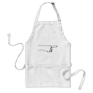 Pointing Finger, Look Over There, Hand Standard Apron