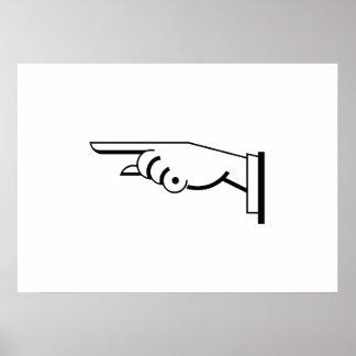 Pointing Finger Print