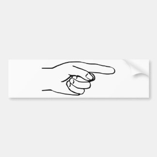Pointing Hand Bumper Sticker