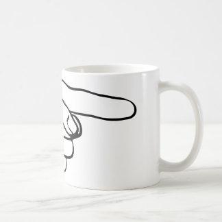 Pointing Hand Coffee Mug