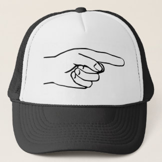 Pointing Hand Trucker Hat