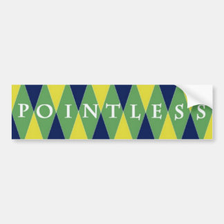 Pointless Argyle Bumper Sticker