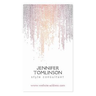Points colorés élégants de confettis sur le blanc carte de visite standard