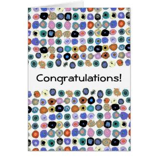 Points - félicitations ! carte de vœux
