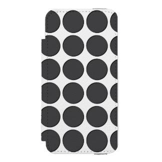 Points gris-foncé carrelés coque-portefeuille iPhone 5 incipio watson™