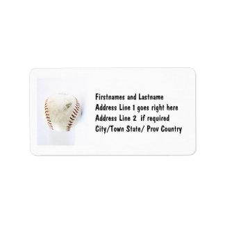 Points vintages de base-ball ou de base-ball étiquettes d'adresse