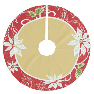 Pointsetta  |  Red Tree Skirt