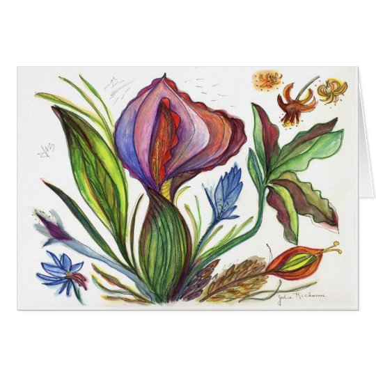 Pointy Flower Painting Card