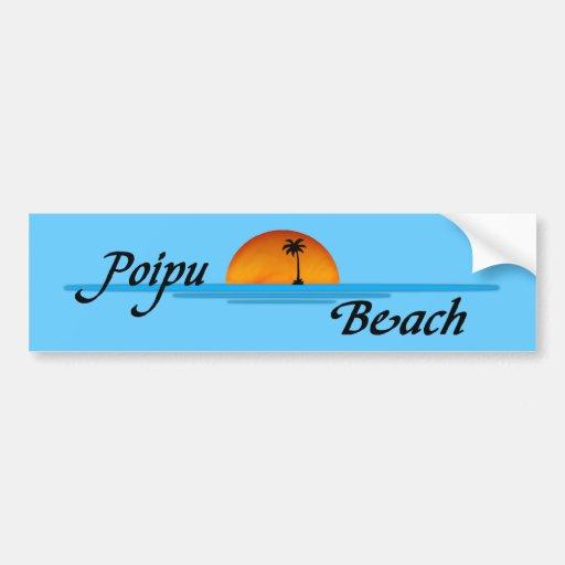 Poipu Beach Sunset Bumper Sticker