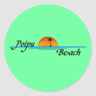 Poipu Beach Sunset Sticker