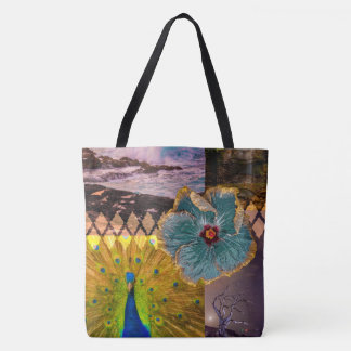 Poipu Sunrise, Kauai Hawaiian Collage Beach Bag