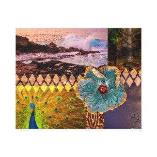 Poipu Sunrise, Kauai Hawaiian Collage Canvas Print