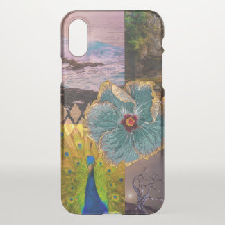 Poipu Sunrise, Kauai Hawaiian Peacock Collage iPhone X Case