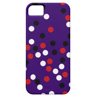 pois blanc rouge noir étui iPhone 5
