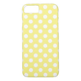 Pois blanc sur jaune citron coque iPhone 7