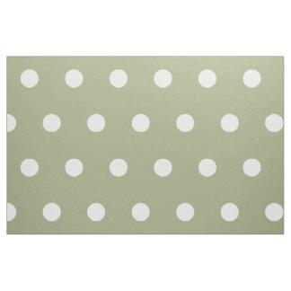 Pois blanc sur le vert sauge tissu