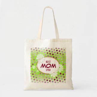 Pois coloré drôle pour le jour de mère sac en toile budget