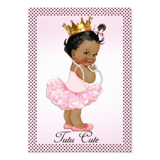 Pois ethnique mignon de princesse Pearls de tutu Carton D'invitation 12,7 Cm X 17,78 Cm