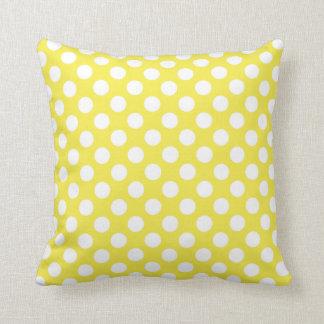 Pois jaune citron coussin décoratif