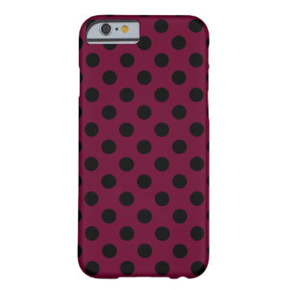 Pois noir sur Bourgogne Coque iPhone 6 Barely There