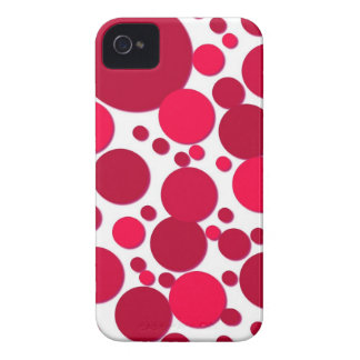 pois rouge coques iPhone 4 Case-Mate