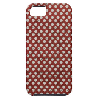 Pois rouge et blanc sale coque iPhone 5 Case-Mate