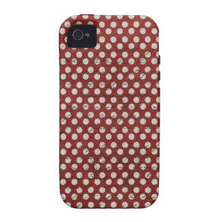 Pois rouge et blanc sale coques Case-Mate iPhone 4