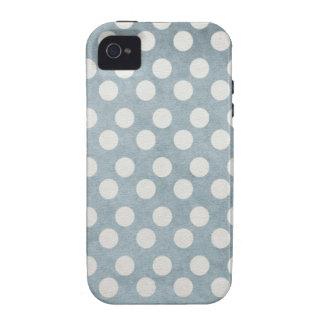 Pois sale bleu coques Case-Mate iPhone 4