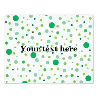 Pois vert multicolore carton d'invitation 10,79 cm x 13,97 cm