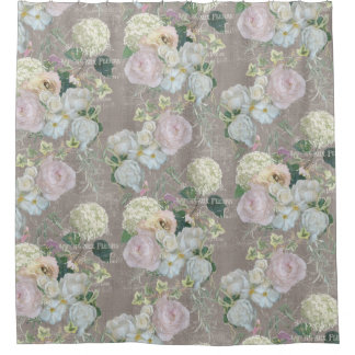 Poised Taupe French Market Floral Vintage Peony