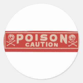 Poison Classic Round Sticker