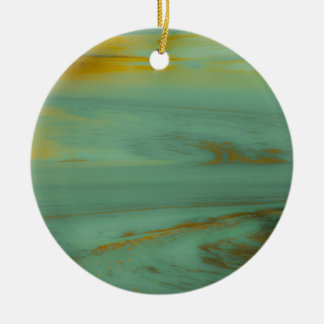 Poison Creek, Wyoming Abstract Photography Design Ceramic Ornament