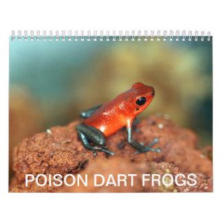 Poison dart frogs calendar