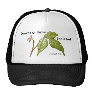 Poison Ivy Hat ... Leaves of three, Let it be!,...