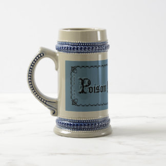 Poison Mug! Beer gift, Add a Name! Unique! Funny! 18 Oz Beer Stein