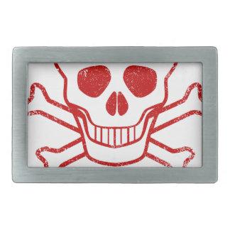 Poison Red Ink Stamp Belt Buckles