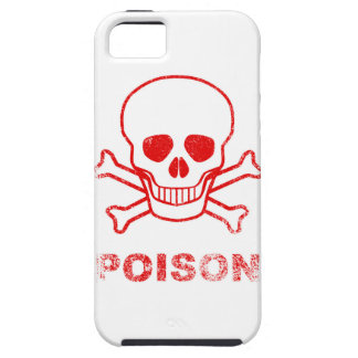 Poison Red Ink Stamp Case For The iPhone 5
