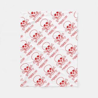 Poison Red Ink Stamp Fleece Blanket