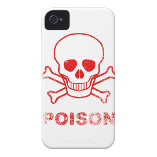 Poison Red Ink Stamp iPhone 4 Cover