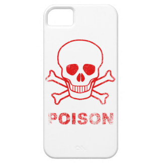 Poison Red Ink Stamp iPhone 5 Covers