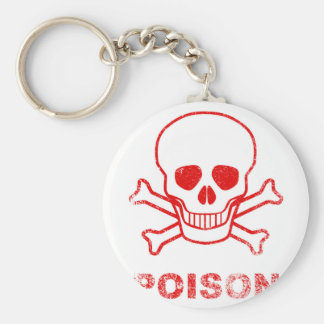Poison Red Ink Stamp Keychain