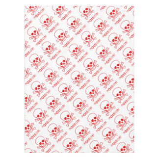 Poison Red Ink Stamp Tablecloth