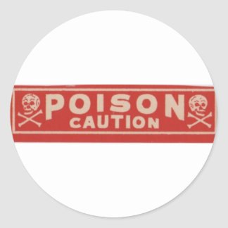 Poison Round Sticker