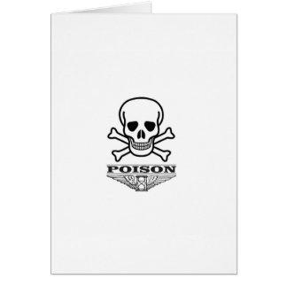 poison skull of death card