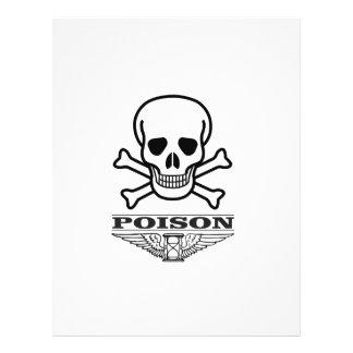poison skull of death letterhead design