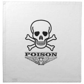 poison skull of death napkin