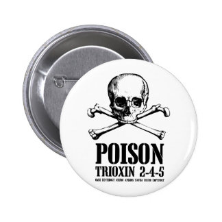 Poison Zombie Trioxin 3-4-5 Dawn of the Dead Pinback Buttons