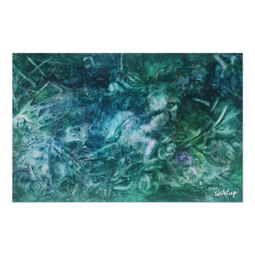 'Poisoned Apple' Watercolor canvas by unASLEEP Poster
