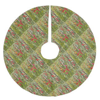 Poisoned Poppies Brushed Polyester Tree Skirt