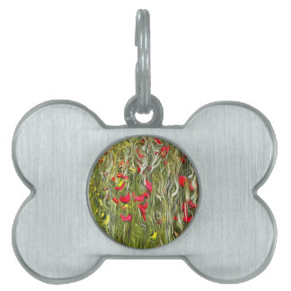 Poisoned Poppies Pet Name Tag